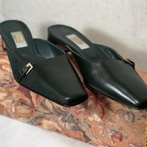 Talbots | Leather Mules Slip On w/Low Heel